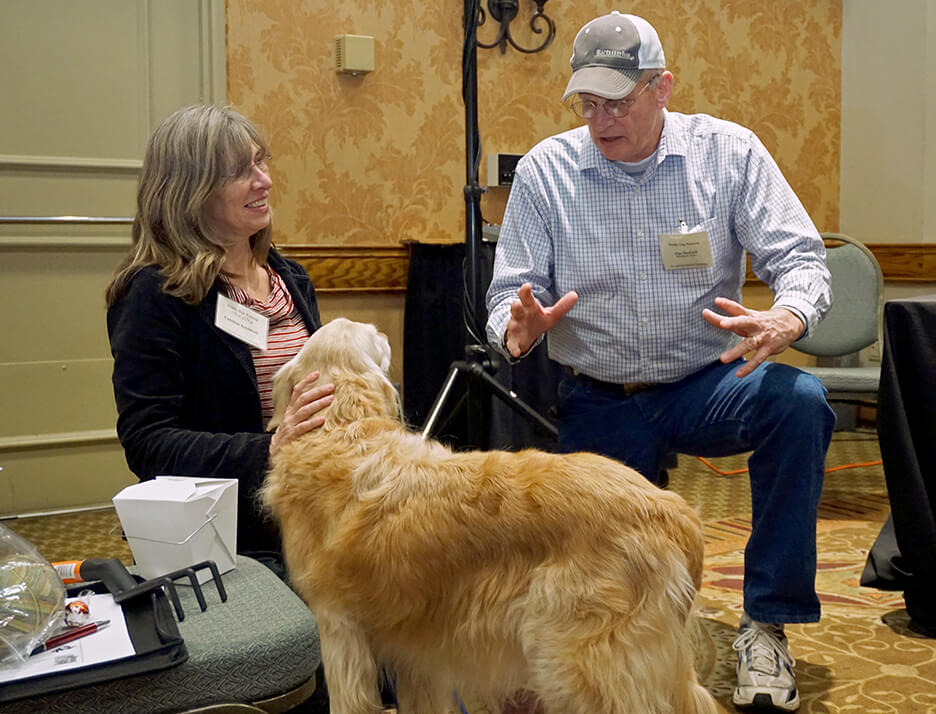 Truffle Dog Trainer, Jim Sanford, imparts wisdom at the Truffle Dog Training. Photo by David Barajas