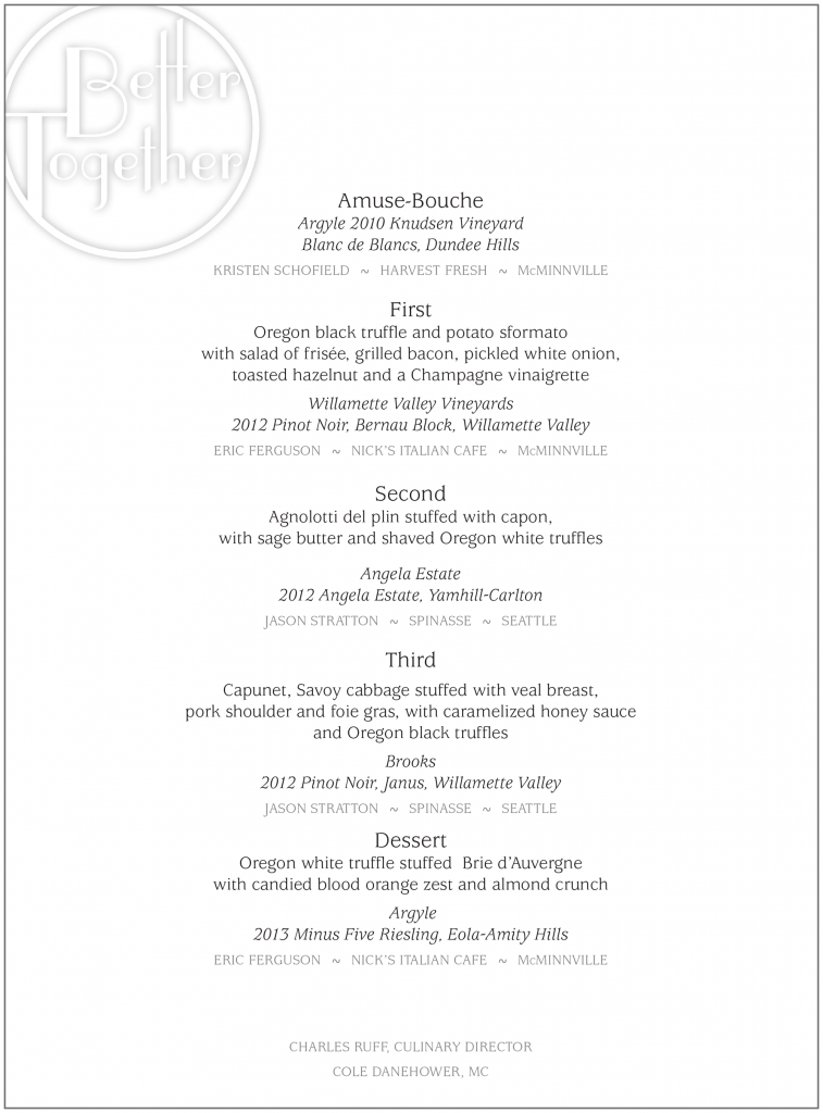 Better Together Menu 2015