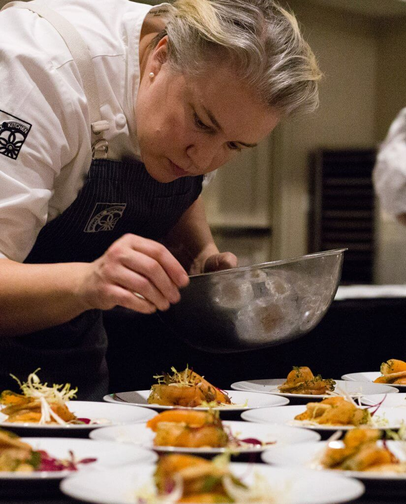 Chef Sarah Schafer at Oregon Truffle Festival
