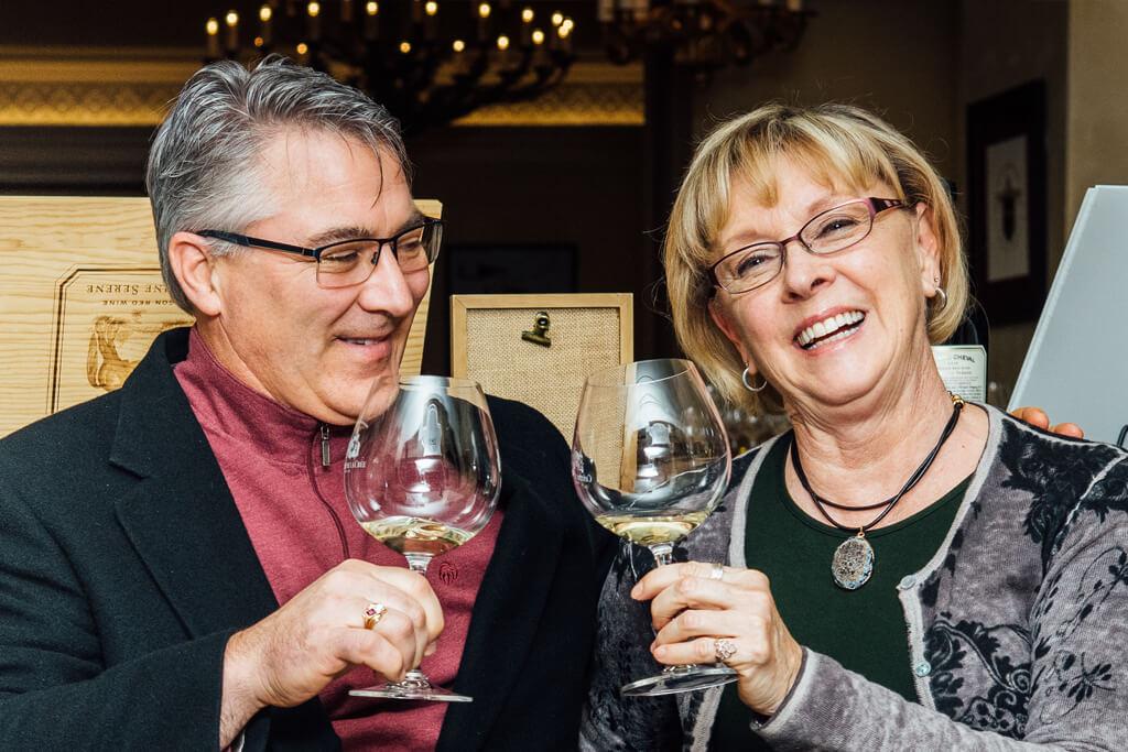 Wine tasting at OTF - Photo by Kathryn Elsesser